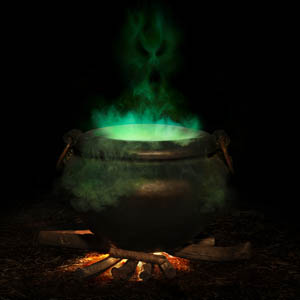 Try serving a cauldron of drinks in your home